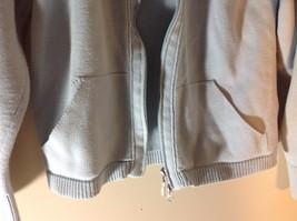 Light Blue Double Zipper Sweater 2 Pockets 100% Cotton Size Medium image 3