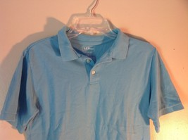 Light Blue L L Bean Size Large 14 to 16 Short Sleeve Polo Shirt image 3