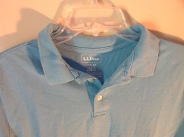 Light Blue L L Bean Size Large 14 to 16 Short Sleeve Polo Shirt image 2