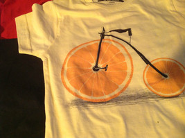 New Kids Threadless lil Girls Yellow Shirt with Orange Bicycle on Front Size M image 9