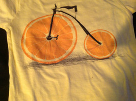 New Kids Threadless lil Girls Yellow Shirt with Orange Bicycle on Front Size M image 10
