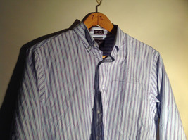 Light Blue Long Sleeve Collared Button Up Shirt by Brown Black 1826 Size Large image 3