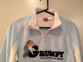 Light Blue with White Trim Grumpy on Front Disney Sweatshirt Size Small 4 to 6 image 2