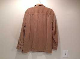 Light Brown 100 Percent Cotton Long Sleeve Button Up L L Bean Shirt Size L Reg image 4
