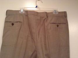Light Brown Beige Plaid Pleated Front Dress Pants NO TAGS Measurements Below image 5