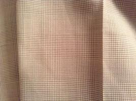 Light Brown Beige Plaid Pleated Front Dress Pants NO TAGS Measurements Below image 7