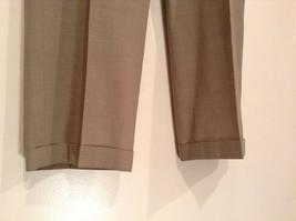 Light Brown Beige Plaid Pleated Front Dress Pants NO TAGS Measurements Below image 3