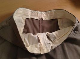 Light Brown Beige Plaid Pleated Front Dress Pants NO TAGS Measurements Below image 6