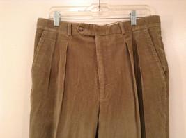 Light Brown 100 Percent Cotton L L Bean Pleated Front Casual Pants Size 34 image 3