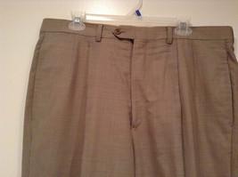 Light Brown Beige Plaid Pleated Front Dress Pants NO TAGS Measurements Below image 2