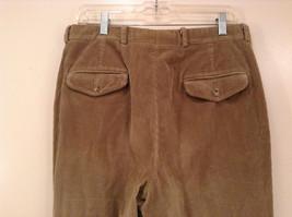 Light Brown 100 Percent Cotton L L Bean Pleated Front Casual Pants Size 34 image 5