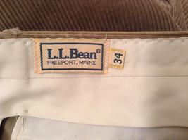 Light Brown 100 Percent Cotton L L Bean Pleated Front Casual Pants Size 34 image 9