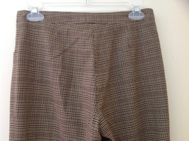 Light Brown Hounds Tooth Patterned Casual Pants 2 Pockets Armani Jeans Size 8 image 6