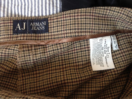 Light Brown Hounds Tooth Patterned Casual Pants 2 Pockets Armani Jeans Size 8 image 8