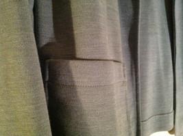Light Gray Skirt Suit Jacket Open Front 2 Pockets Skirt Elastic Waist Size 14 image 4