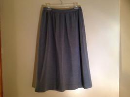 Light Gray Skirt Suit Jacket Open Front 2 Pockets Skirt Elastic Waist Size 14 image 8