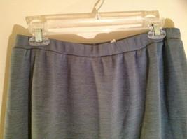 Light Gray Skirt Suit Jacket Open Front 2 Pockets Skirt Elastic Waist Size 14 image 6