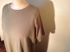 Light Green Short Sleeve Susan Graver Soft Stretchy Top Size Large image 4
