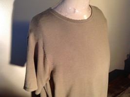 Light Green Short Sleeve Susan Graver Soft Stretchy Top Size Large image 5