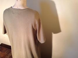Light Green Short Sleeve Susan Graver Soft Stretchy Top Size Large image 7