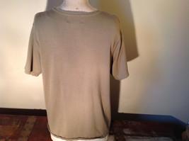 Light Green Short Sleeve Susan Graver Soft Stretchy Top Size Large image 6