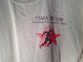 Light Green Jerzees Short Sleeve Graphic T-Shirt Sponsor USMA 5K 10K Size Large image 2