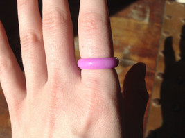 Light Purple Agate Natural Stone Ring Sizes 6.75 and 8 image 3