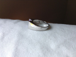 Light Purple CZ Stone Stainless Steel Ring Size 9  image 2