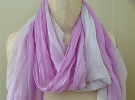 Light Purple Watercolor Scarf Length 65 Inches Width 24 Inches image 3