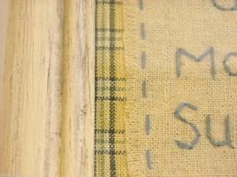 New primitive embroidered framed stitchery Good Morning Sunshine image 8