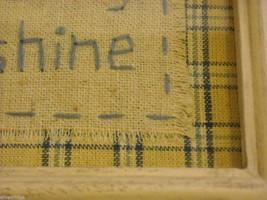New primitive embroidered framed stitchery Good Morning Sunshine image 7