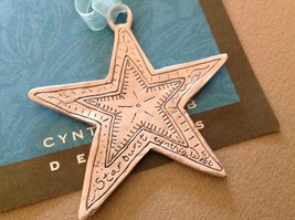 New small Pewter hand made Star  hanging wall ornament Cynthia Webb image 2