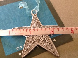 New small Pewter hand made Star  hanging wall ornament Cynthia Webb image 3
