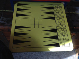 Nine Game Station Wood Chess Parcheesi Checkers Backgammon Solitaire Pass Out image 4