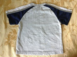 Nike Baseball Short Sleeve T Shirt Gray with Blue and White Size 12M image 3