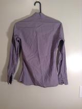 Light Violet Button Up Front Essex Signature Collection Cotton Blouse Size 30 image 3