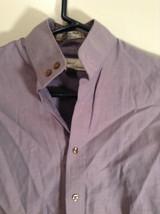 Light Violet Button Up Front Essex Signature Collection Cotton Blouse Size 30 image 2