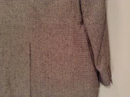 Norm Thompson Size 38R Beige Blue Plaid Suit Jacket Blazer Two Button Closure image 6