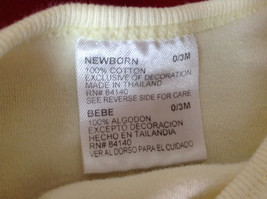 Light Yellow with Baby Bunnies on Front Newborn One piece Size 0 to 3 Months image 6