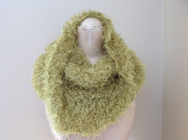 Lime Green Magic Fuzzy Circle Scarf Can Be Used as a Hood and Shoulder Cover image 3