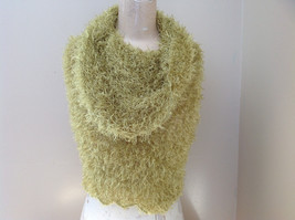 Lime Green Magic Fuzzy Circle Scarf Can Be Used as a Hood and Shoulder Cover image 4