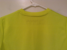 Lime Yellow Short Sleeve 100 Percent Polyester Shirt Hawk Size L 14 to 16 image 6