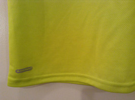 Lime Yellow Short Sleeve 100 Percent Polyester Shirt Hawk Size L 14 to 16 image 4