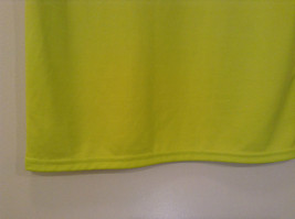 Lime Yellow Short Sleeve 100 Percent Polyester Shirt Hawk Size L 14 to 16 image 8