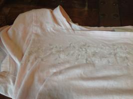 Liz Claiborne Liz Sport Pink T-Shirt with Tiny Flower Designs Bottom and Chest image 7