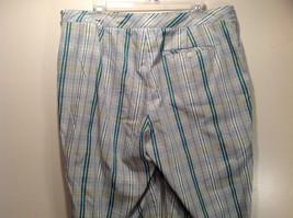 Liz Golf Audra Size 16 Light Blue Green Plaid Casual Pants image 7