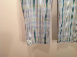 Liz Golf Audra Size 16 Light Blue Green Plaid Casual Pants image 3