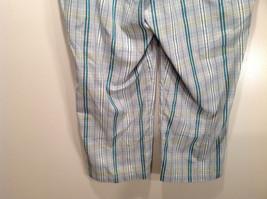 Liz Golf Audra Size 16 Light Blue Green Plaid Casual Pants image 8