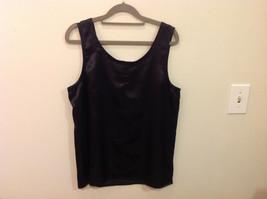 Norton McNaughton Black Sleeveless Silk like Blouse Tank Top, NO Size tag image 2
