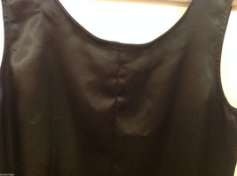 Norton McNaughton Black Sleeveless Silk like Blouse Tank Top, NO Size tag image 3